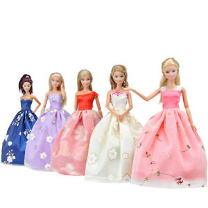 15 Items=5Pcs Handmade Doll Clothes Wedding Dresses &10 Shoes For Barbie Dolls A 702380010302