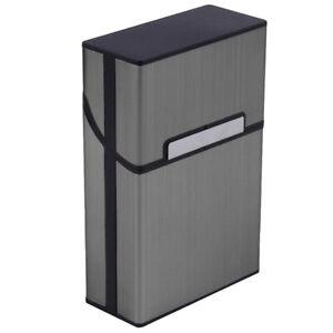 Metall-Zigarettenetui-Zigarettenschachtel-Zigarettendose-Box-Zigaretten-Box-w