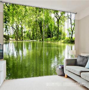 3d bosque río 8536 bloqueo foto cortina cortina de impresión sustancia cortinas de ventana