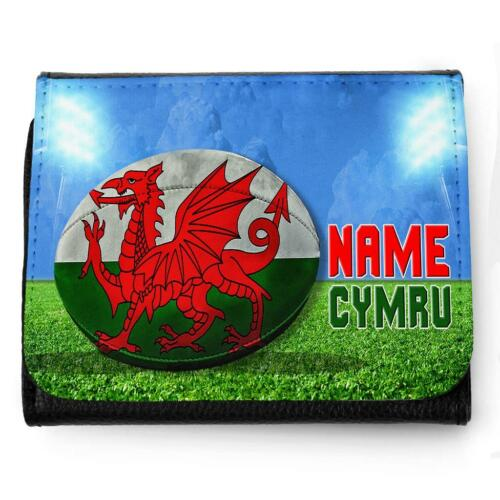 Personalised Mens Wallet WALES RUGBY Grandad Dad Father Boys Birthday Gift SH275