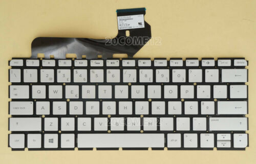 New For HP ENVY 13-d000np 13-d002np 13-d003np Keyboard Backlit Portuguese Silver