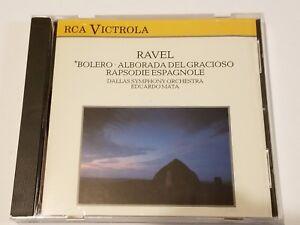 RAVEL-MATA-DSO-BOLERO-RAPSODIE-ESPAGNOLE-CD-1988-RCA-IMPORT-CLASSICAL-LIKE-NEW