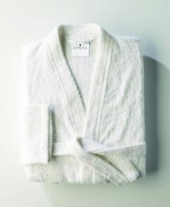 Personalised Towel City unisex Kimono White Cotton Terry Toweling Robe monogram