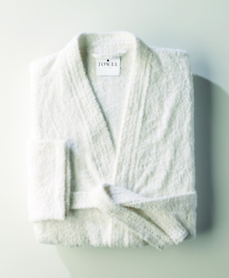 Personalised Towel City Unisex Kimono White Cotton Terry Toweling Robe Monogram Eine GroßE Auswahl An Waren