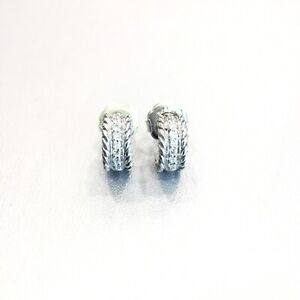 David-Yurman-Plata-Esterlina-Huggie-Aro-Pendientes-de-Diamante-Pave