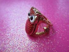 Gold Owl Locket Ring Size 7
