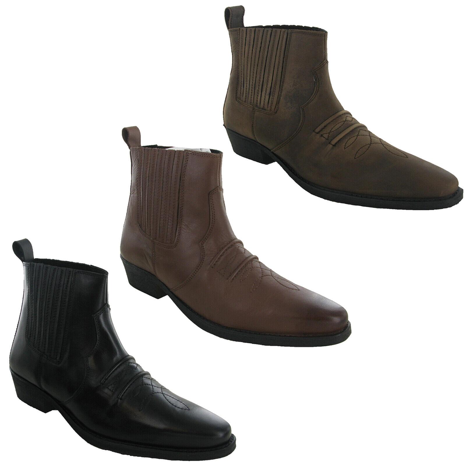 Gringos   Woodland Zwickel Cowboy Western Herren Leder Stiefeletten UK 6-12