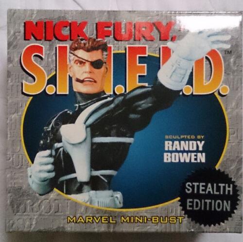 Marvel Comics Les Avengers de Bowen Nick Fury Stealth Ed.   Mini buste / statue avec boite