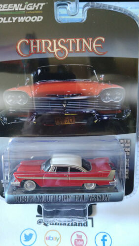 Greenlight Hollywood Christine 1958 Plymouth Fury Evil Version NG65