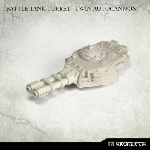 Twin Autocannon Kromlech Resin KRVB090 Battle Tank Turret