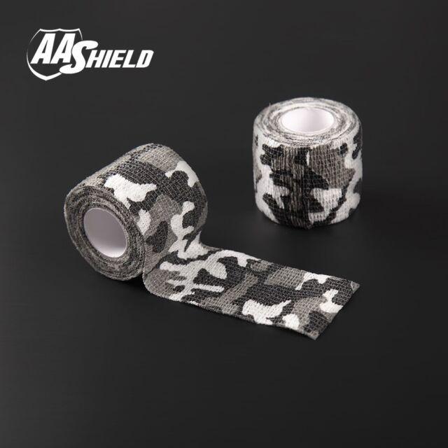 AA Shield Outdoor Camping Camo Tape Military Rifle Covert Adhesive//Gun BK