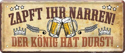 Zapft Ihr Narren Bier Helles Pils Kneipe Bar Pub Spruch Blechschild Poster B0020