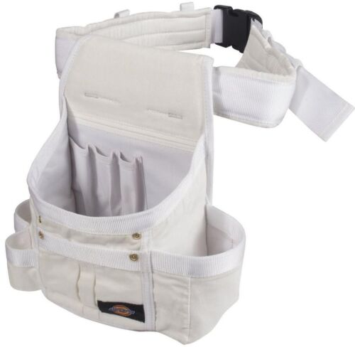 Tool Holder Belt White 8-Pocket Painters Utility Pouch Wearable Organizer