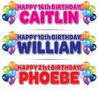 2 x PERSONALISED BIRTHDAY BANNER 3ft- 36