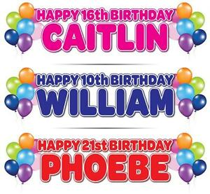 2-PERSONALISED-BIRTHDAY-BANNERS-1st-5th-16th-18th-21st-30th-40th-50th-BALLOONS