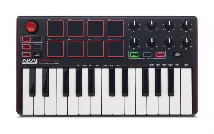 Nuevo AKAI MPK Mini Mini Mini 2 MK2 Compacto Midi Pad de batería USB controlador de teclado en negro 62139d