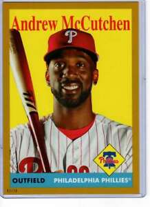 Andrew McCutchen 2019 Topps Archives 5x7 Gold #73 /10 Phillies
