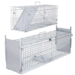 VIVOHOME-Large-Humane-Animal-Trap-Steel-Cage-Live-Rodent-Control-Rat-Squirrel
