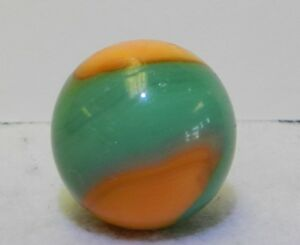 8142m Large .84 Inches Rare Color Akro Agate Vintage Shooter Marble
