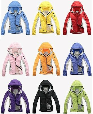 Women's 3in1 Hiking Travel Cycling Ski Snow Waterproof Windproof Outdoor Jackets