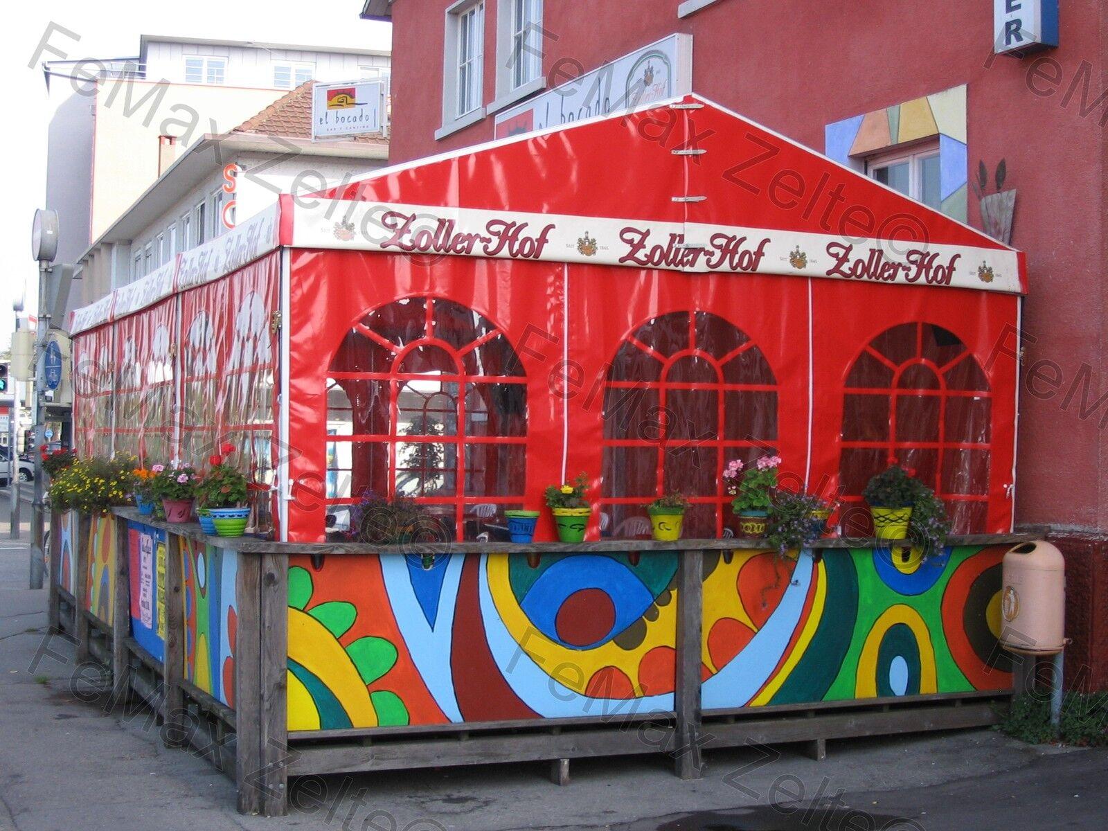 Festzelt Partyzelt Bewirtungszelt Gastrozelt Profizelt Profizelt Profizelt 5x6m  2x Panoramafenster   Auktion    Das hochwertigste Material    Geeignet für Farbe  d37c59