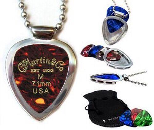 Martin /& Sons Guitar Pick Set /& Pickbay guitar pick holder Necklace Gr8 Gift!