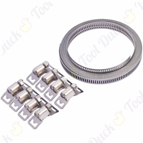 Clip//Driver Hose Clamp SET 8mm//12mm STEEL Jubilee Type Plumbing//Pipe//Hose Clips