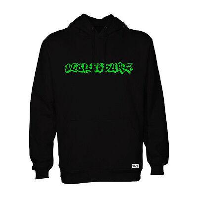 "EAKS® Hoody ""WOLFSBURG GRAFFITI"" schwarz Kapuzen Pullover Hooded Sweatshirt"
