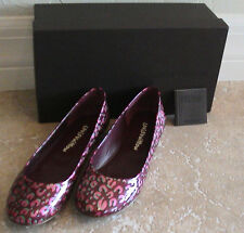 NEW AUTH Louis Vuitton Feline Monogram Vernis Leopard Ballerina 37.5 - LIMITED