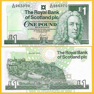 351e P-351 1 pound Scotland Royal Bank 2001 UNC