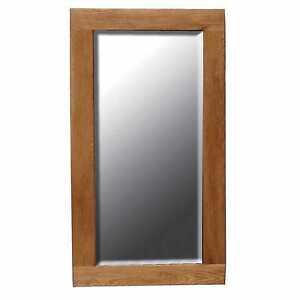 Details About Modern Oak Mirror Frame Wall Bathroom Hallway Wooden Framed 60 X 90 Cm