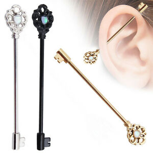 Surgical-Steel-Industrial-Barbell-14G-38mm-Ear-Barbell-Ring-Piercing-Jewelry