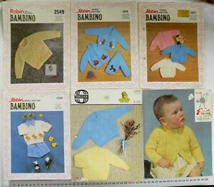 Special-BABY-Outfits-Jumpers-amp-Cardigans-3-4-amp-8-Ply-Choice-6-Books-B22