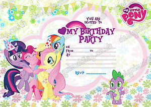 Image Is Loading My Little Pony Party Invitations Unpersonalized X 8