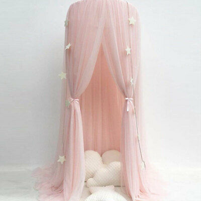 Bed Canopy Round Dome Pink Mosquito Net Princess Bedroom Decor For Baby Kids Uk Ebay