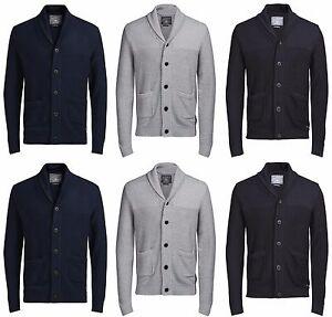 Nouveau-Jack-amp-Jones-Homme-Tricote-Cardigans-Casual-Tops-Bouton-Pull-vente-Taille-S-XL