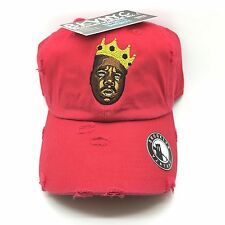 item 2 Red Distressed Biggie 90s Retro Vtg Dad Cap Hat -Red Distressed  Biggie 90s Retro Vtg Dad Cap Hat 4d90b7cb637