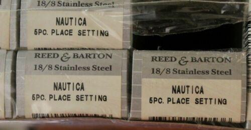 Reed /& Barton Stainless Nautica 5 Piece Place Setting Unused 18//8 Korea Flatware