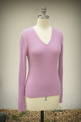 THE WORKS NEW YORK Size S 100% Cashmere Lavender Sweater