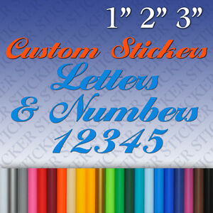 Custom Vinyl Stickers Letters Numbers Labels Decals Personalised - Custom vinyl stickers letters