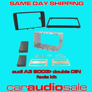 CT23AU02 Black Double Din Facia Adaptor Surround Kit For Audi A3 2003-2012