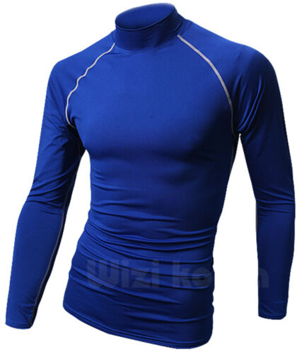 Mens Beach Water Sports Rash Guard Wetsuits Long Sleeve Swimwear Tops T617 S//M