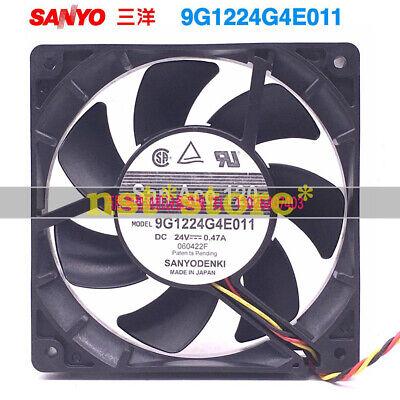 1pc SANYO 9GV0824P4K031 Inverter cooling fan 24V 0.44A 80*25mm 3pin