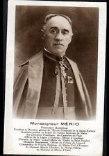 Monseigneur MERIO : AUMONIER GENERAL de FRANCE de l'ORDRE SOUVERAIN de MALTE