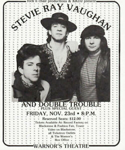 STEVIE-RAY-VAUGHAN-1984-COULDN-039-T-STAND-THE-WEATHER-TOUR-FLYER-HANDBILL-NM-2-MINT