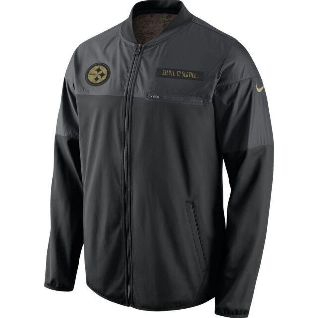 a3b84ed9 Pittsburgh Steelers NFL Men's Nike Salute to Service 2016 Hybrid Black  Jacket, ...