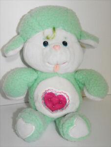 Gentle-Heart-Lamb-Vintage-Care-Bear-13-inch-Plush-Toy-Stuffed-Kenner-1983