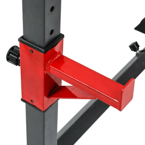 Barbell Rack 550LBS Max Load Adjustable Squat Stand Dipping Station Weight Bench