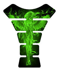 Fire Angel Green Motorcycle Gel Gas tank pad tankpad protector Decal