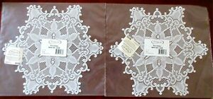 2-Heritage-Lace-SNOWFLAKE-Doliy-Doilie-Doilies-White-12-034-Brand-New-In-Package